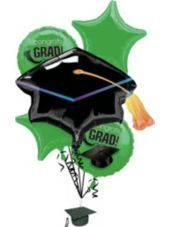 Foil Green Graduation Balloon Bouquet – Party City