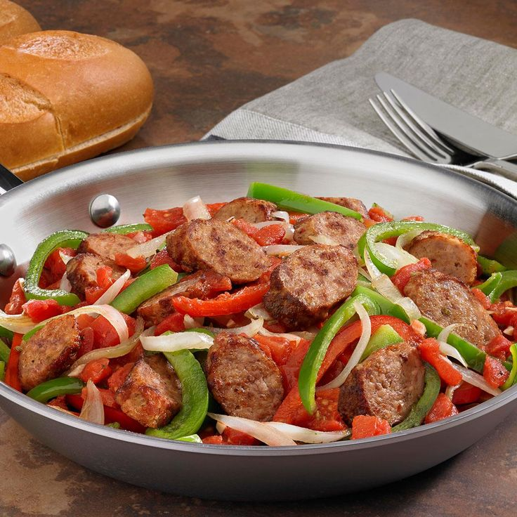 Johnsonville Italian Sausage, Onions & Peppers Skillet Recipe -Brought to you by The Kitchen at <b>Johnsonville® Sausage</b>.