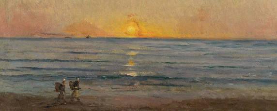 "Charles François DAUBIGNY ""Sunset near Villerville c. 1876"" (French, 1817-1878) #Normandie #Villerville #Côte-Fleurie"