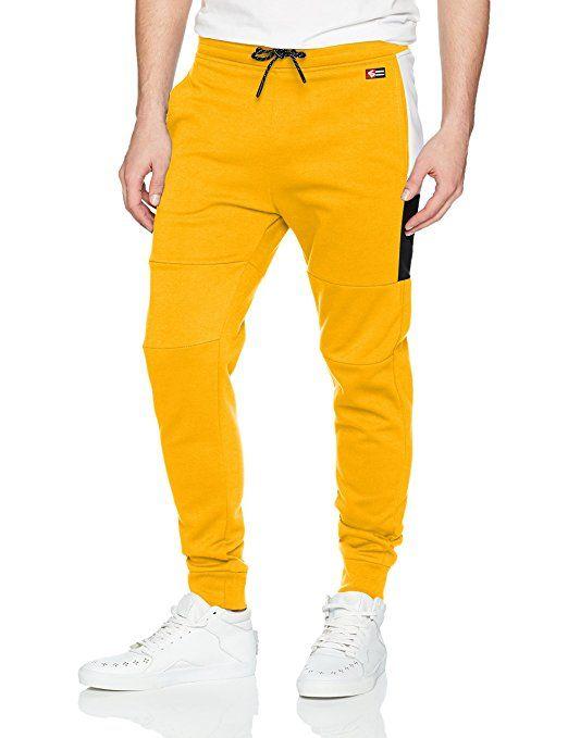 b050b30970fe4 Southpole Men's Tech Fleece Basic Jogger Pants, Yellow Colorblock, 3X-Large  #shopping #shop #wedding #design #tshirt #apparel #clothing #clothes #dress  ...