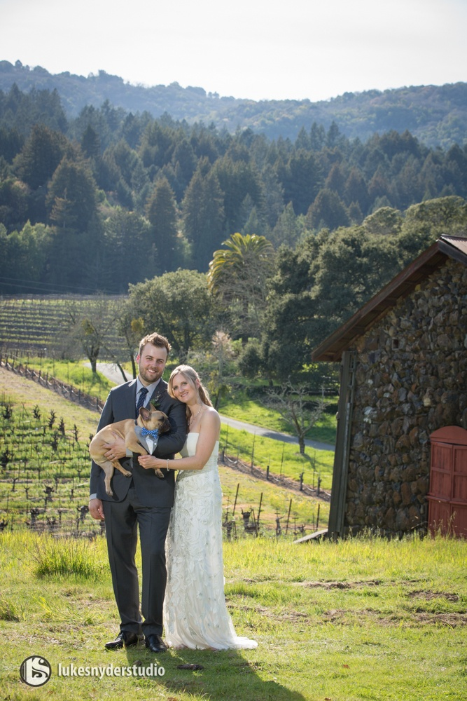 Intimate wedding for 10 people and one cute dog= a lifetime of memories
