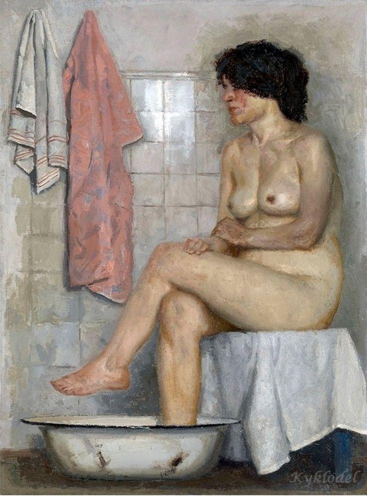 Naga w łazience - Gelij Korżew
