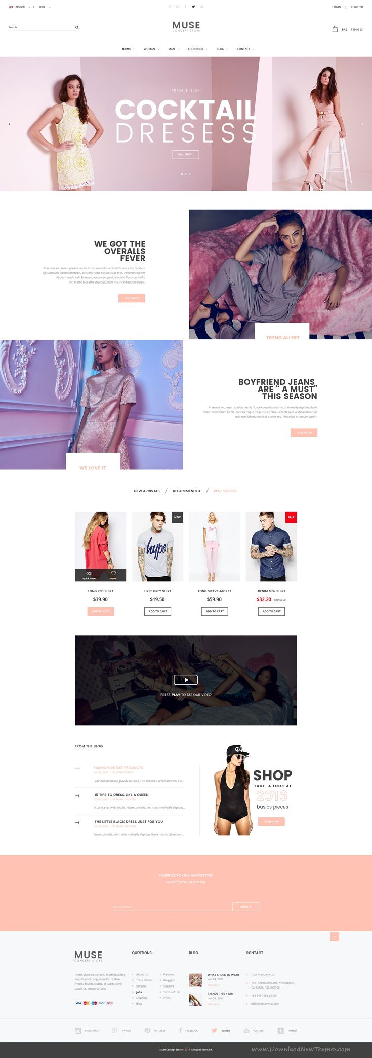 Muse Concept Store is wonderful Multiuse PSD Template for stunning eCommerce website.
