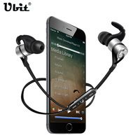 Ubit D9 Sports Wireless Bluetooth Earphone Anti-sweat Metal Headset Earbuds Earphones with Mic In-Ear for iPhone SmartPhones