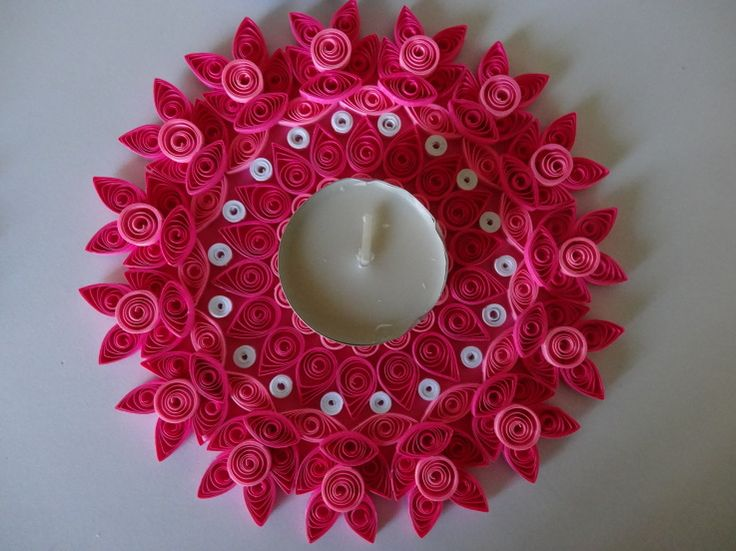 Colorful Candle Holder or Wall Decor-PINK
