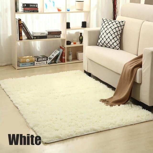 Shaggy Carpet For Living Room Home Warm Plush Floor Rugs Fluffy