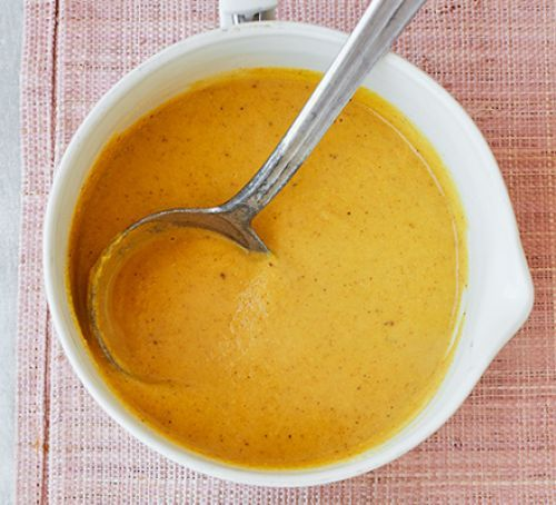 Curried cauliflower & lentil soup