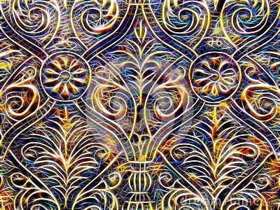 Изображение декоративных картин в неоновом свете