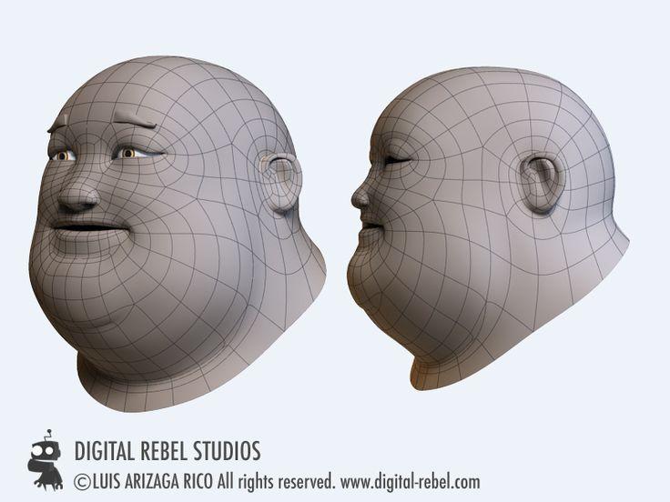 Digital Rebel Art School: Head topology.