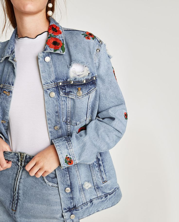Veste jean sans manche femme zara