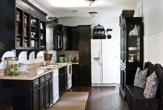 Black and white kitchen A splash of color would be a perfect addition