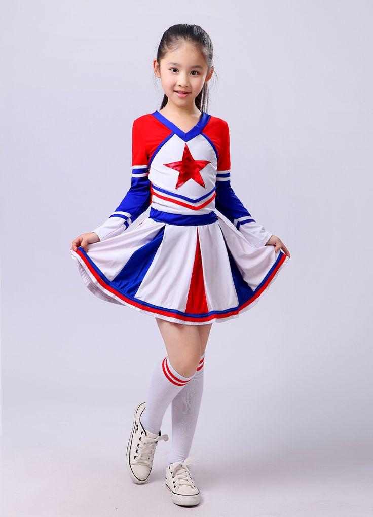 Cheerleading Aerobics Costume Modern Dance Wear Long Sleeve Cheerleading Clothing Girl Cheerleader with Sock