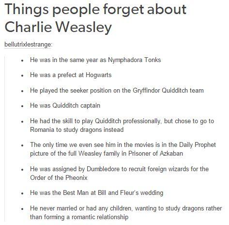 harry potter - charlie weasley