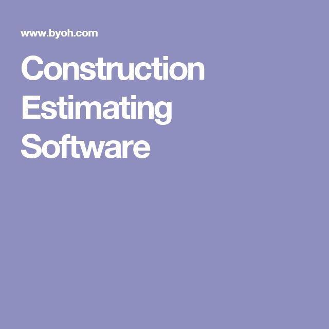 Best  Construction Estimating Software Ideas On