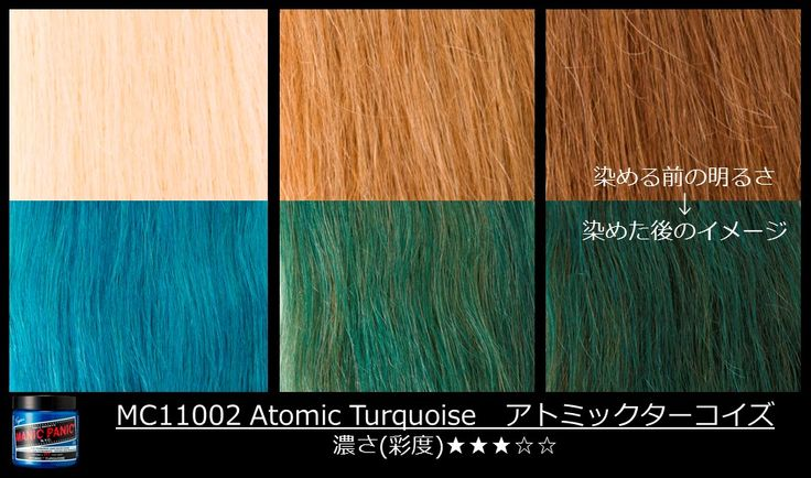 Manic Panic Atomic Turquoise on different shades of blonde