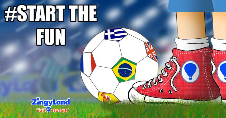 """Experience the pulse of the Mundial in the story """"The magical world of Football"""" along with 3 FREE games, today!"""