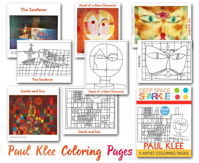 1000 bilder zu paul klee art project for kids auf for Paul klee coloring pages