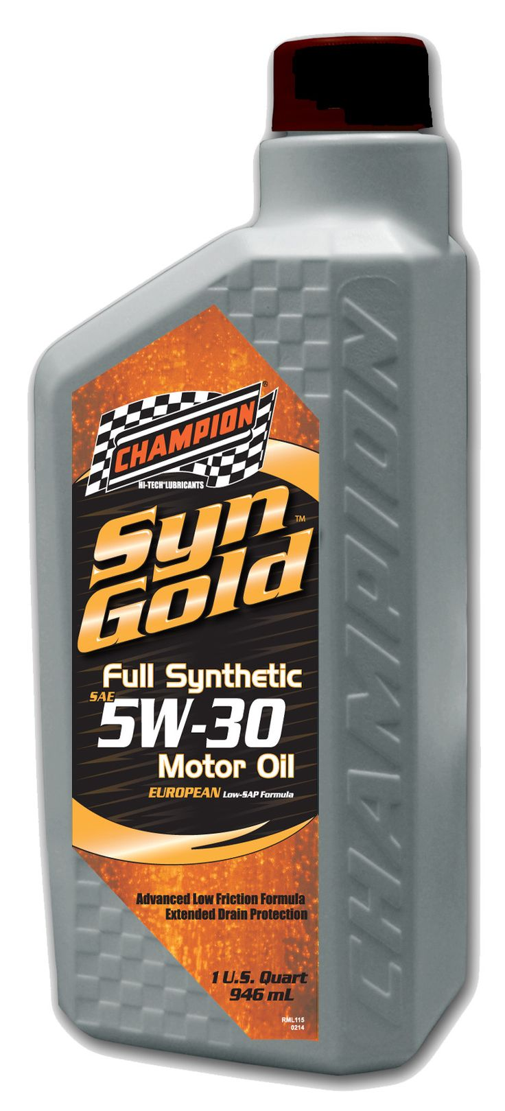 CHAMPION RACING OIL EUROPEAN SYNGOLD FULL SYNTHETIC 5W-30 (6 QUARTS) SAPS 4436H