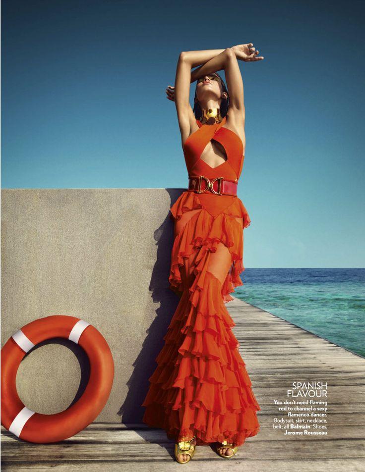 Vogue Índia Março 2016 - Raica Oliveira, flamenca marítima