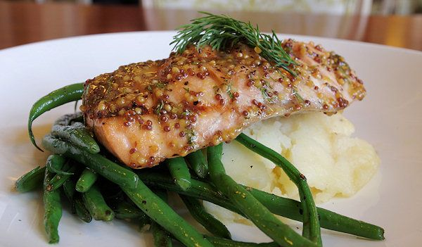 Grilled Salmon with Mashed Potatoes and Green Beans  This is a delicious Fat Burning Meal you can enjoy. Your salmon(protein), Mashed Potatoes(fast carb), Green beans(slow carb). Learn more at www.Mydietfreelife.com