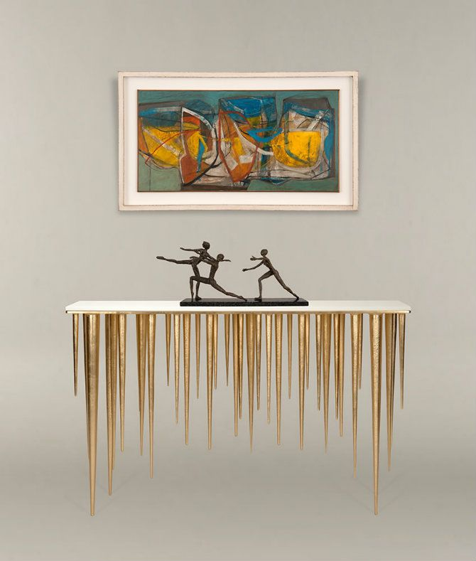 LUXURY CONSOLE TABLE| brass console table for a luxury interior | http://bocadolobo.com/ #consoletableideas #modernconsole