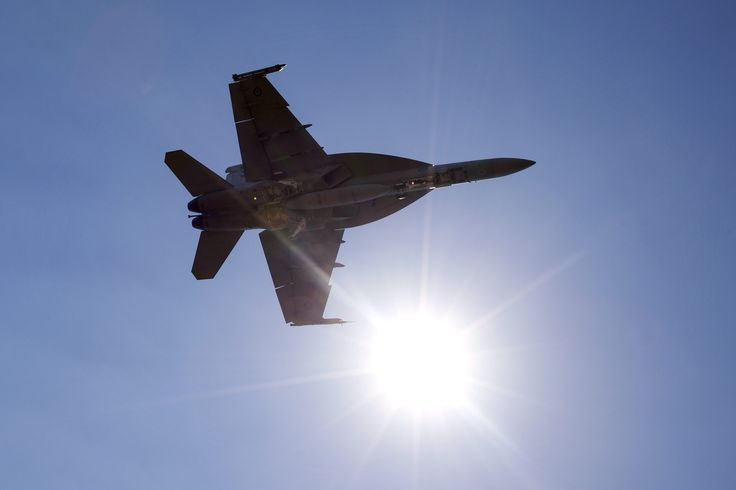 A RAAF F/A-18F Super Hornet returns to RAAF Base Darwin after a sortie during Exercise Pitch Black 14.  CPL Craig Barrett   Copyright © Commonwealth of Australia, Department of Defence