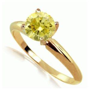 0.25 Karat gelber Solitär Diamantring 585er Gelbgold (Gelb/SI2)  #diamantring #weissgold #gelbgold #rosegold #gelber_diamant #verlobung #juwelier #abt #dortmund