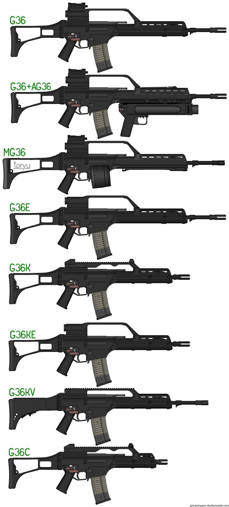 Hk G36 Assault Rifle G36 Assault Rifle Variants