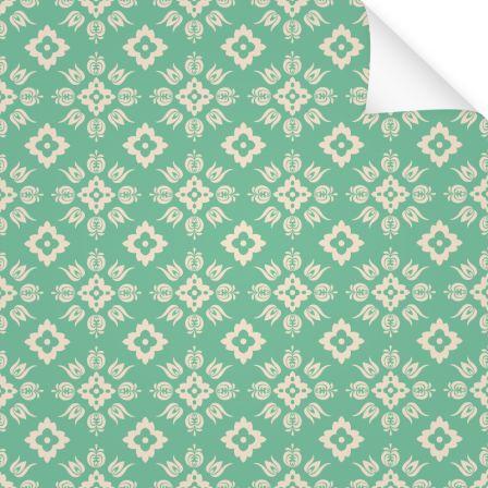 Klebefolie Muster Blume Grün