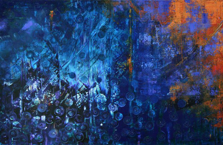 'Cosmos' by Uxbridge Ontario painter Carolyn Bather. 36' x 24' acrylic on…