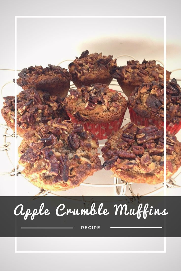 APPLE CRUMBLE MUFFINS is the perfect morning snack, but they also make a yummy dessert too.