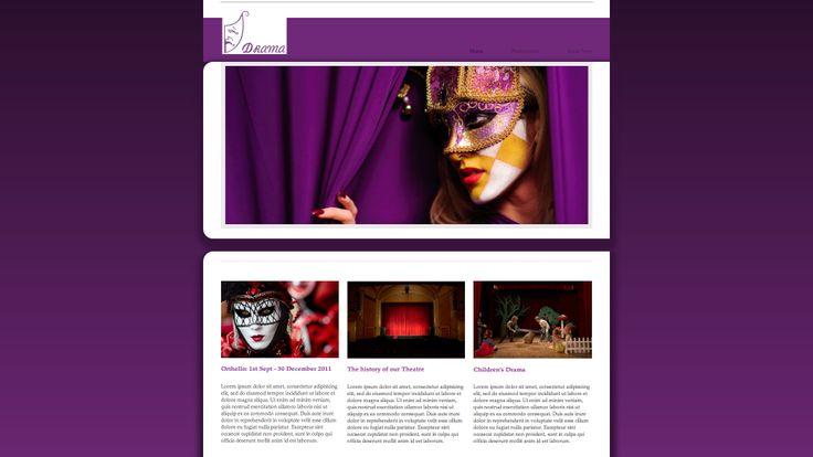 Diseño web para grupos de teatro, escenas