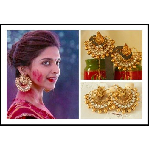Online Shopping for Ram Leela Earrings Jhumka Tops Kund | Earrings | Unique Indian Products by Aanjaney's - MAANJ53536450150
