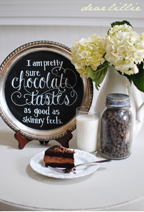 Love this quote done using a chalk pen @Dear Lillie: Chocolate Cake and Chalk Pens