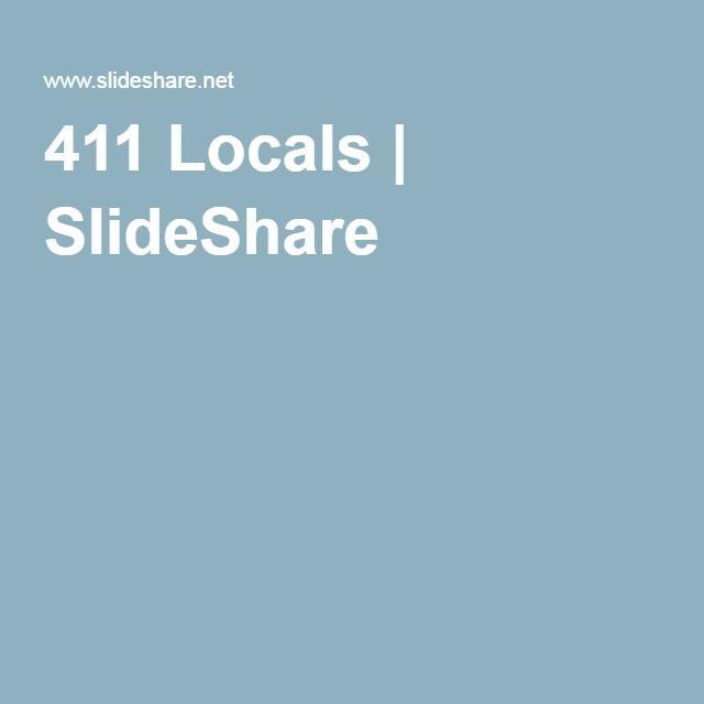 411 Locals | SlideShare