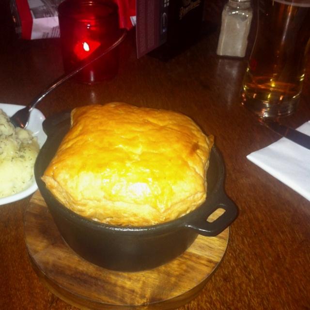 Chicken pie at the Grove pub in Balham