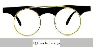 Pure Genius Round Clear Lens Glasses - 451 Black