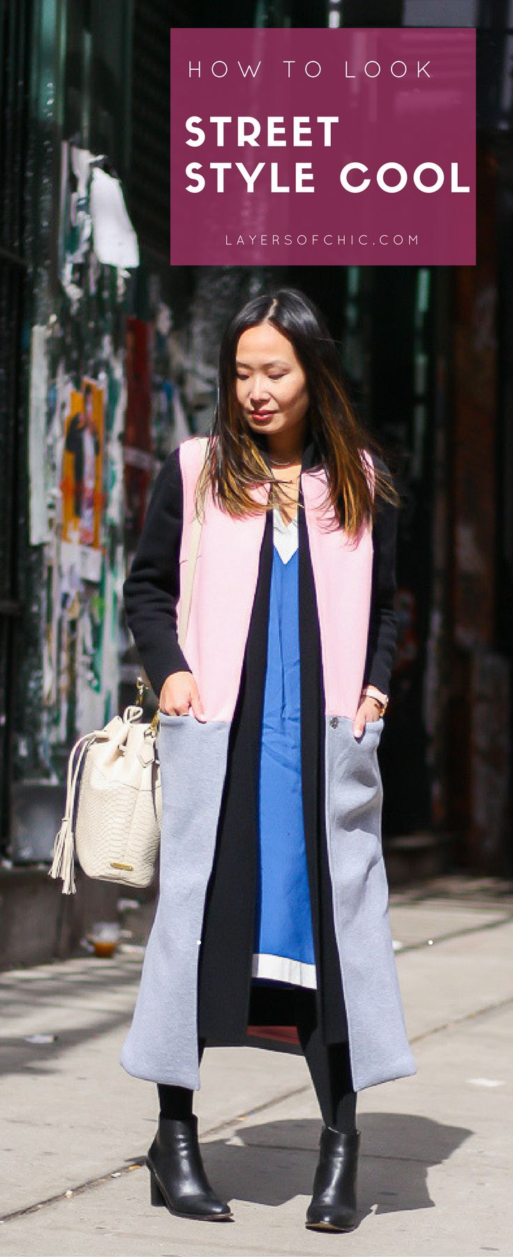 How to style a vest, street style cool outfits, color block outfits. Shop the look on www.layersofchic.com