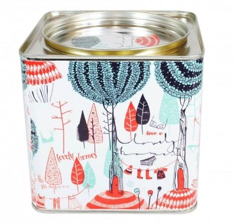 tea tins @monoblock: Teas Tins, Cookies Tins, Teas Time, Tins Teas Packaging, Packaging Design, Ana Sanfelippo, Teas Flower, Monoblock Industrial, Leaves Tins