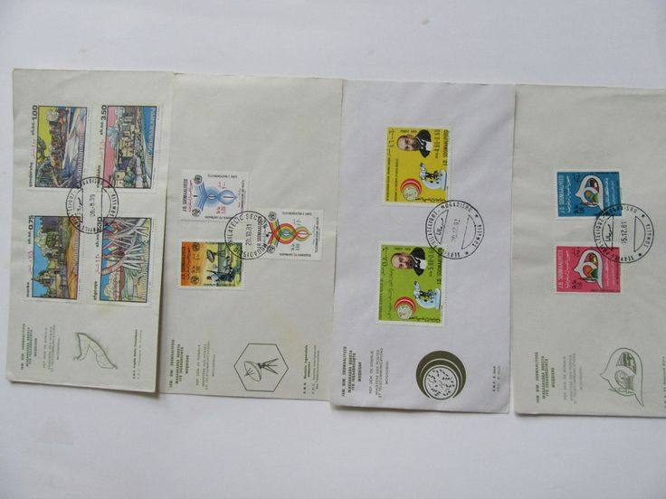 Lot of 4 1st Day Cover Somalia Stamps #Goodcondition