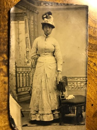 1860s-TINTYPE-CIVIL-WAR-AfRICAN-AMERICAN-LADY-MOBILE-ALABAMA