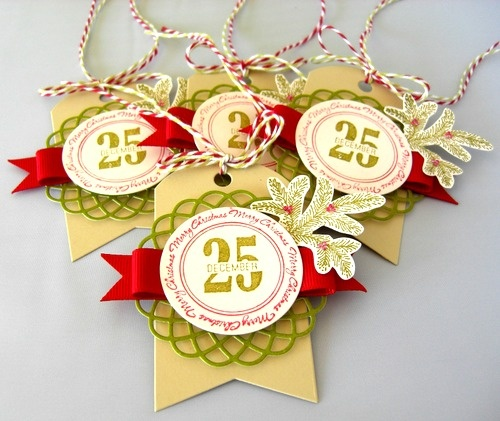 Love these tags...it's a banner, tag and doily shape...all in one.  by Stephanie Wincott