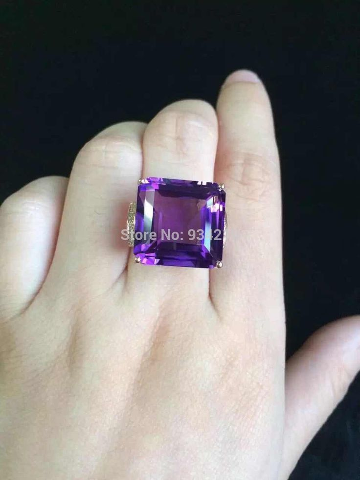Aliexpress.com : Buy 18K Gold Uruguay Amethyst Purple Crystal Ring, natural stone weight is 25carat from Reliable stone flowerpot suppliers on Serena's Jewelry