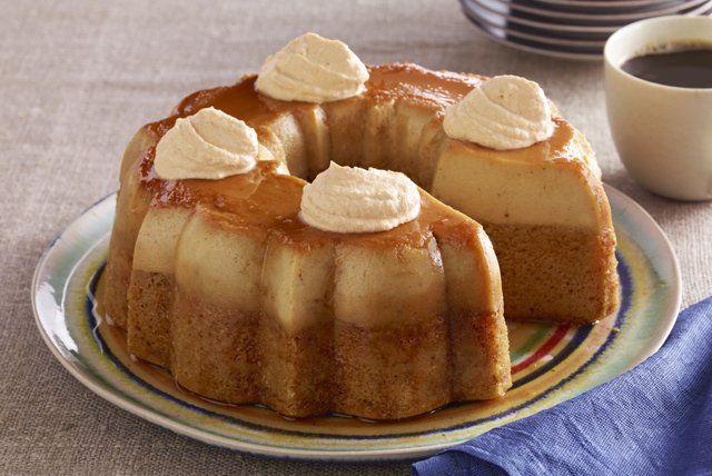 El hada madrina de Cenicienta a puesto en marcha su magia y ha creado este pastel de flan de calabaza. Creerás que ha salido de un cuento de hadas.