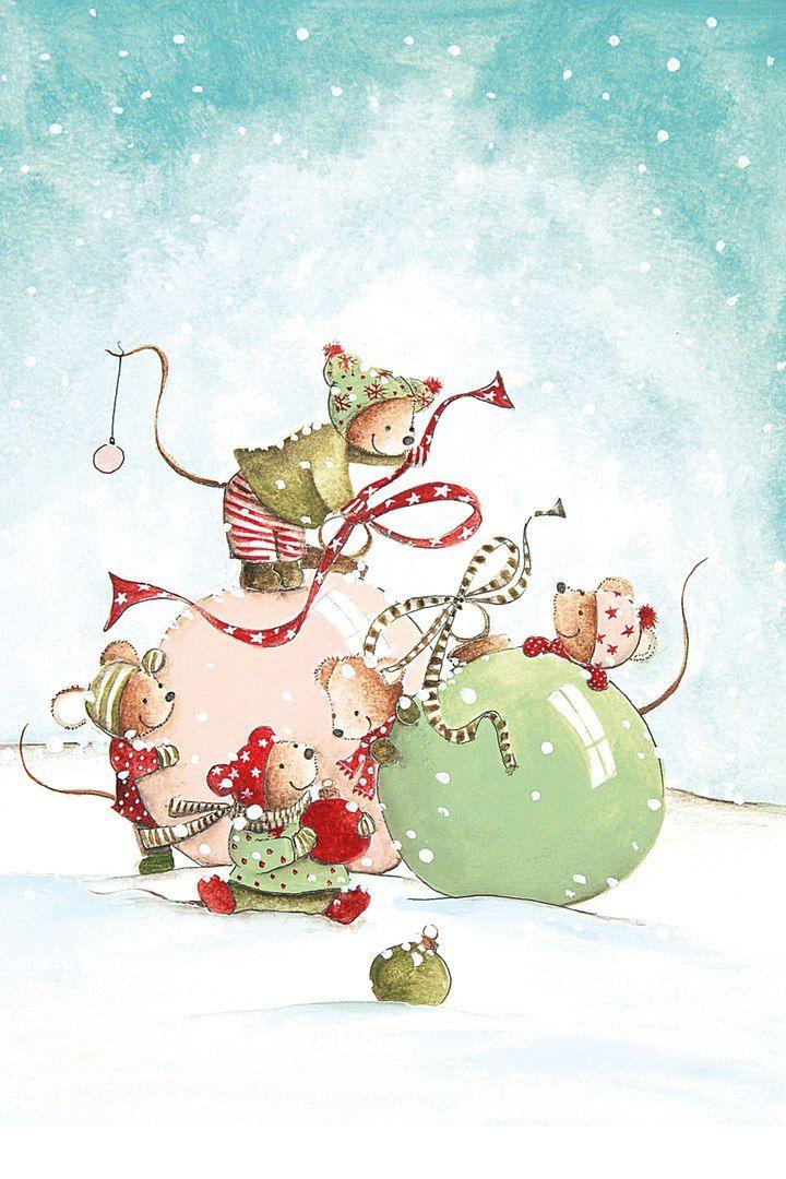Милые картинки с наступающим новым годом мышки которые знакомы