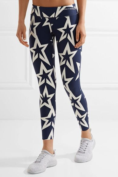 Perfect Moment - Star Light Printed Stretch Leggings - Storm blue - x small