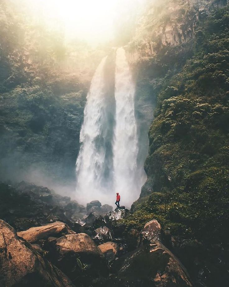 It takes a struggle to reach this beautiful waterfall, Coban Sriti Waterfall, East Java, #Indonesia  Photo by: IG @abrahamyusuff