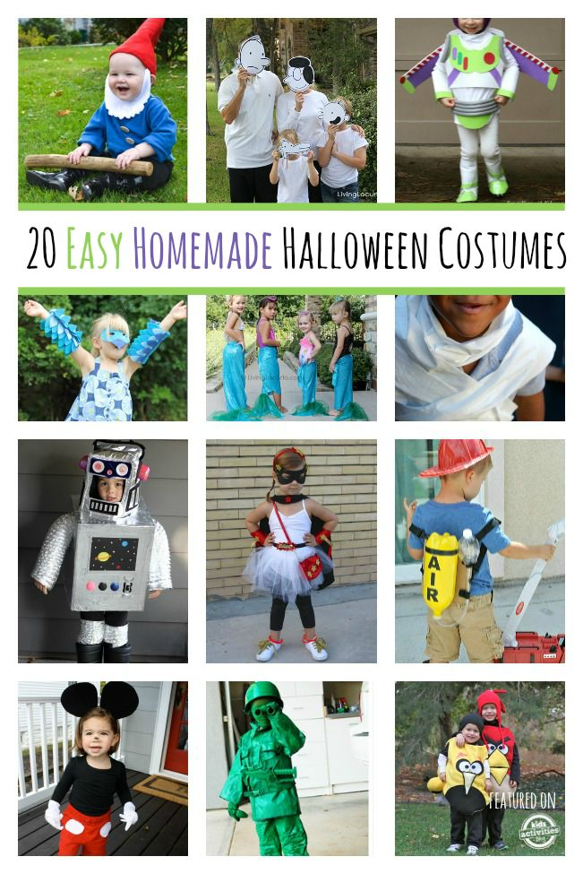 20 ways to easily make homemade costumes this Halloween with little to no seamstress skills!