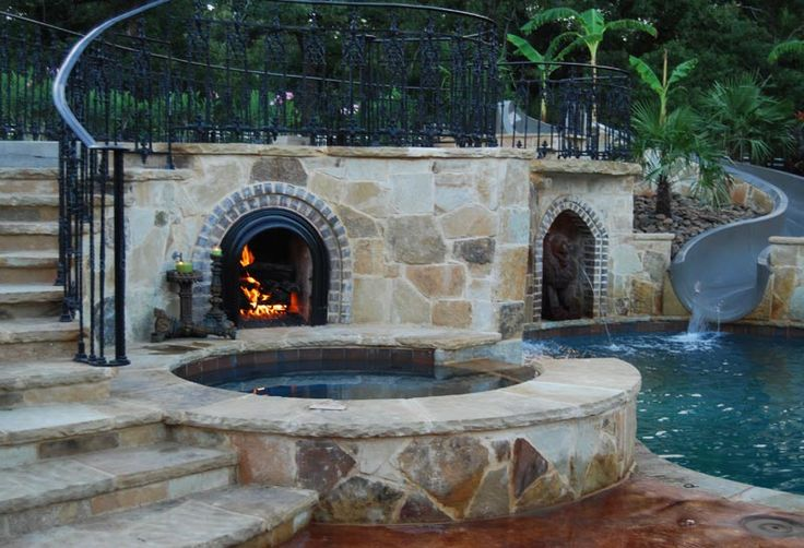 1000 Images About Lower Yard Spa Pool Ideas On Pinterest Iron Patio Furniture Gardens And Home