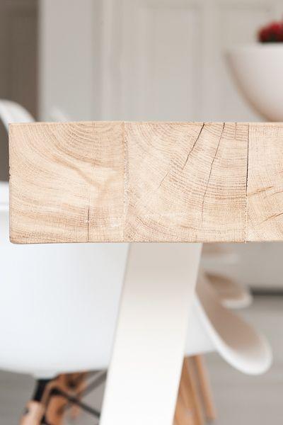 Maatwerk Tafel type Dani - houten balkentafel massief eiken